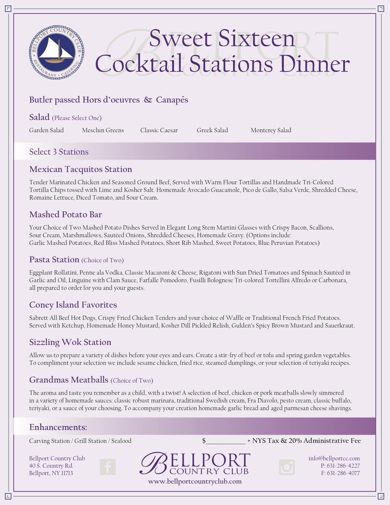 Amazing Bellport Catering Wedding Event Party Food Custom Menu Home Interior And Landscaping Ponolsignezvosmurscom